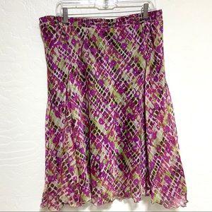 Lane Bryant Skirt Pink Multi Color Size 14/16